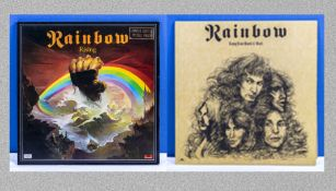 Rainbow - a copy of Rainbow Rising, Oyster Polydor limited edition 2490-137A together with Long Live