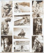 Mounted Native American postcards