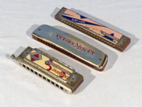 Three harmonicas