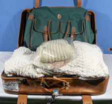 A quantity of crocheted and hand knitted garments