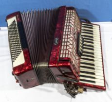 A Galotta Ideal Bell accordion with case
