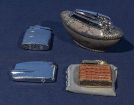 Four vintage cigarette lighters