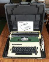 An electric typewriter