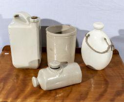 Four stoneware items