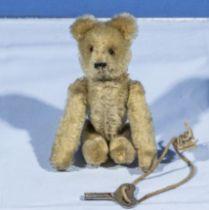 A small mechanical teddy bear with key