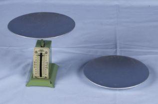 Set of vintage letter scales