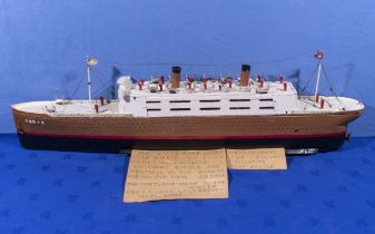 Working model of White Star line TSS Doric powered by a two cylinder oscillating steam engine