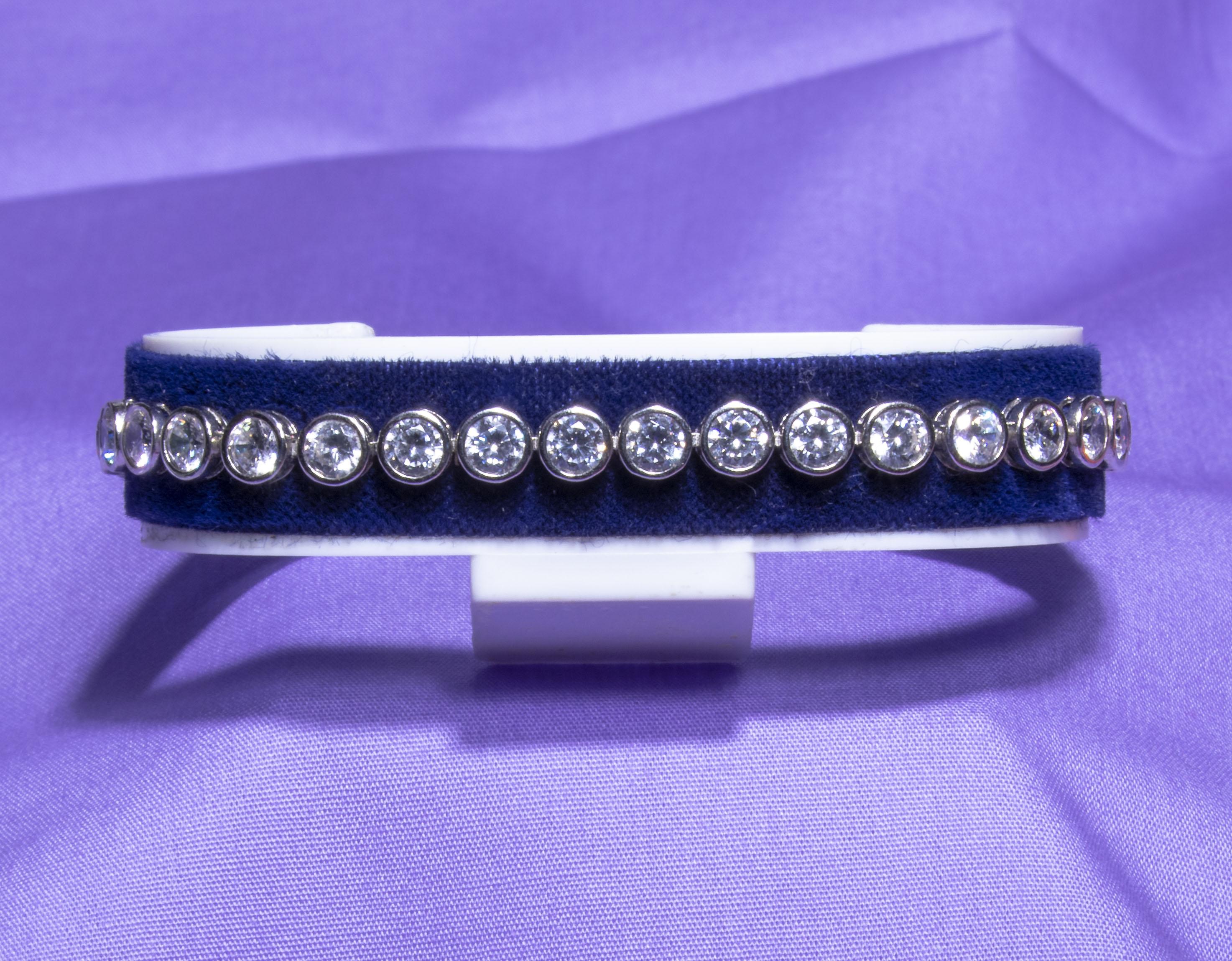 A silver bracelet