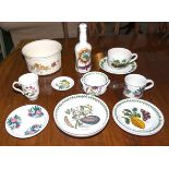 A collection of Portmeirion ware pottery