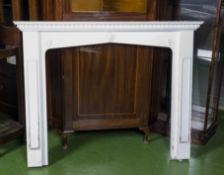 Painted wood fire surround