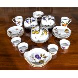 A selection of Royal Worcester Evesham ware