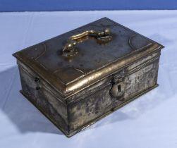 Antique brass cash box