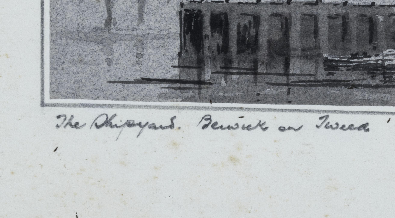A framed print 'Berwick on Tweed' signed W Fergie, 13cm x 18cm - Image 3 of 6