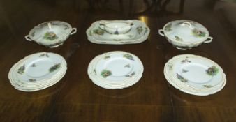 A part J & G Meakin dinner service Thatched Cottage pattern