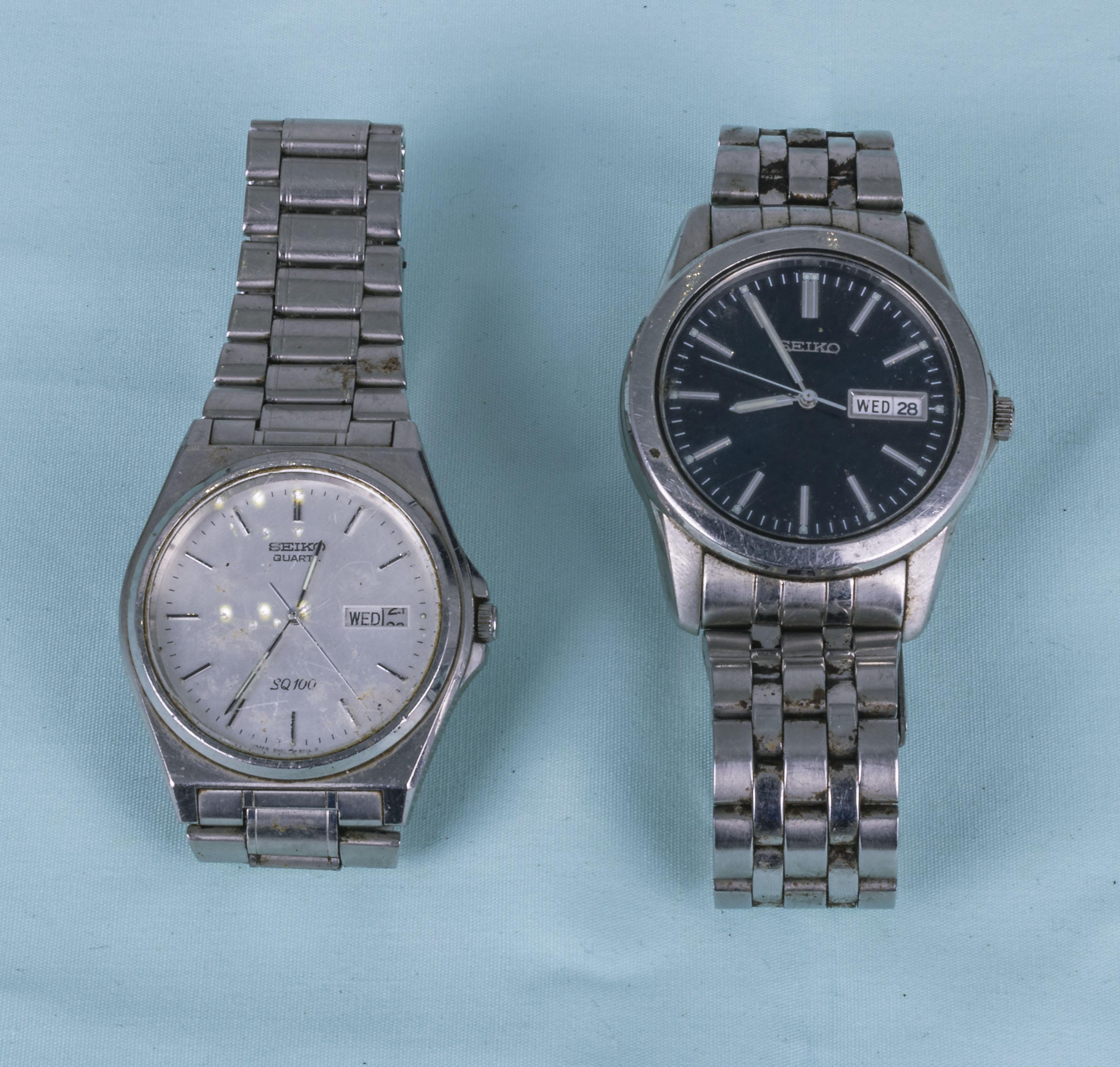 Two vintage Seiko gents wrist watches
