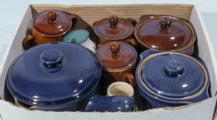 A box containing Denby cook ware