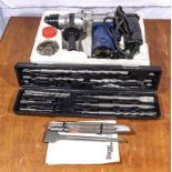 Ferm FBH-620 SDS Rotary hammer drill together with drill bits and chisel attachments