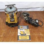A Worksharp ws2000 tool sharpener together with an angle grinder