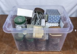 Box of screws, nails etc