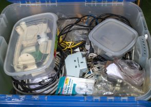 Box of electrical wiring accessories