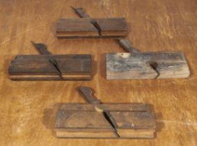 Four vintage wooden planes