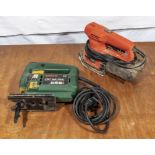 Bosch PST 65 PAE jigsaw together with a sander