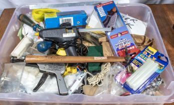Box of assorted tools and accessories