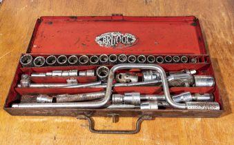 A Britool socket set AF and Whitworth
