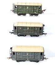 French JEP O gauge, three goods wagons