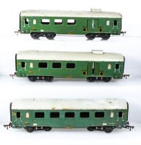 French JEP O gauge SNCF three carriages 1st/2nd class, 3rd class and baggage