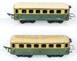 Two vintage JEP O gauge SNCF Pullman Coaches