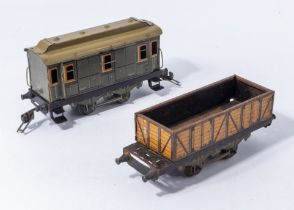 A vintage pre war French J de P O gauge freight wagon 4662