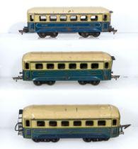 Three vintage JEP O gauge SNCF Pullman Coaches