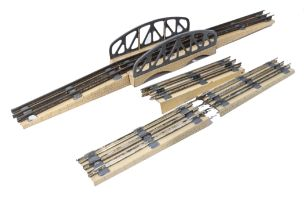 French JEP metal bridge 57-3 in three pieces together with three other bridge pieces