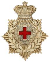 Volunteer Medical Staff Corps Victorian helmet plate circa 1885-1901. Good scarce die-stamped