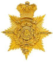 49th (P. Charlotte of Wales or Hertfordshire) Regiment Victorian Officer Albert shako plate circa