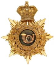 Scottish. 71st (Highland) Regiment of Foot Victorian Officer helmet plate circa 1878-81. Good scarce