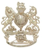 4th Lancashire Artillery Volunteers Victorian helmet plate circa 1878-1901. Good scarce die-