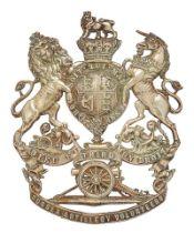 3rd Sussex Artillery Volunteers Victorian helmet plate circa 1878-1901. Good scarce die-stamped