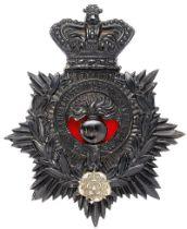 19th Lancashire Rifle Volunteer Corps Victorian helmet plate circa 1880-88. Good scarce die-