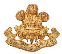 Welsh. 30th (Pembrokeshire) Company, 9th Battalion Imperial Yeomanry Boer War slouch hat badge. Good