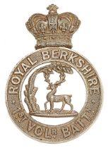 1st VB Royal Berkshire Regiment Victorian glengarry circa 1885-96. Good scarce die-stamped white