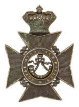 Royal Middlesex Rifles Victorian helmet plate circa 1878-81. Good scarce die-stamped blackened