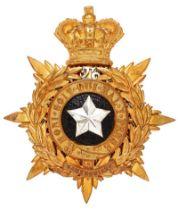 Scottish. 26th (Cameronians) Regiment of Foot Victorian Officer helmet plate circa 1878-81. Good