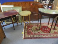 Small furniture to include a mid 20th century gold painted circular occasional table with cross