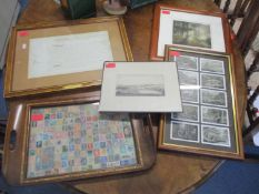 A mixed lot to include Jo Barry - Splendid silent sun with all his dreams' engraving signed,