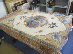 A Flemish terracotta ground woollen carpet by Osta Carpets 190 x 140cm