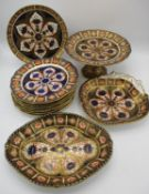 A Victorian Royal Crown Derby porcelain dessert service in the Imari pattern (1126), comprising