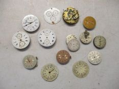 Chronograph pocket watch parts to include a Baume and Mercier A/F Location: Cabs
