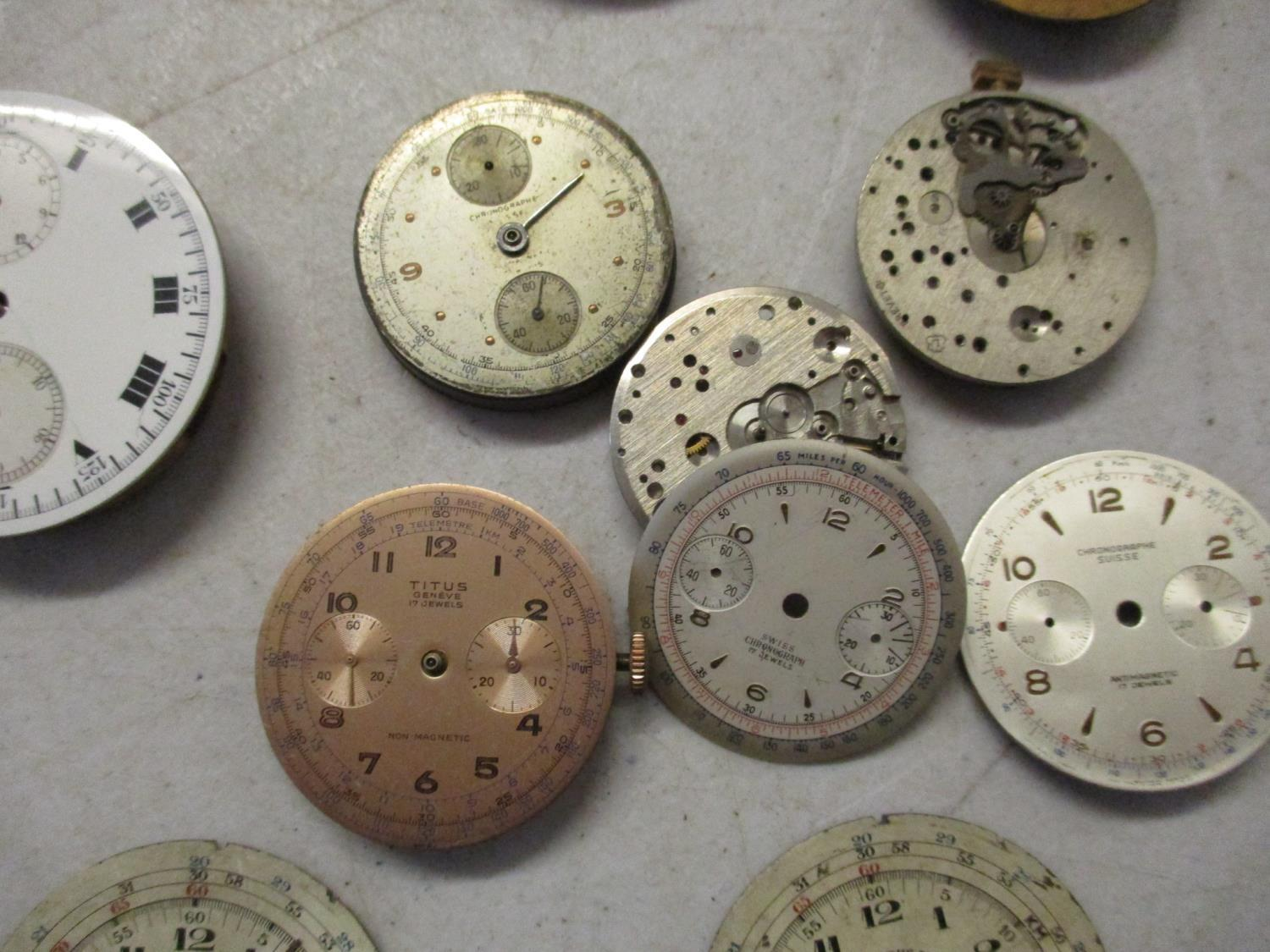 Chronograph pocket watch parts to include a Baume and Mercier A/F Location: Cabs - Image 5 of 5